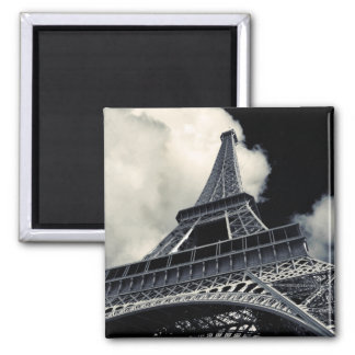 Eiffel in Black and White Magnet