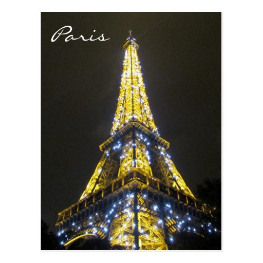 eiffel sparkles postcard