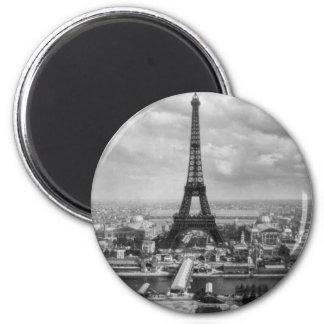 Eiffel tour 6 cm round magnet