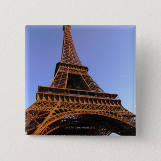 eiffel tower 15 cm square badge