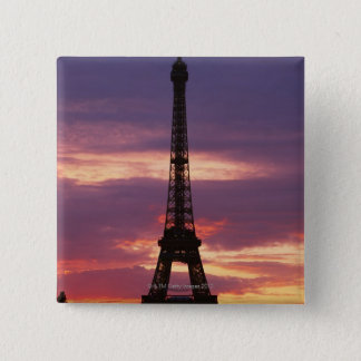 Eiffel Tower 2 15 Cm Square Badge