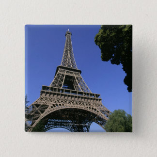 eiffel tower 5 15 cm square badge