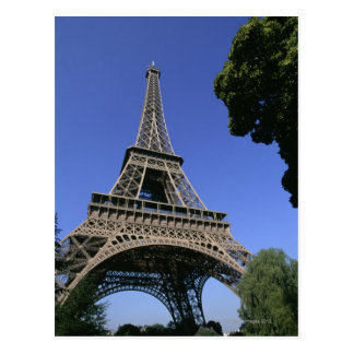 eiffel tower 5 postcard