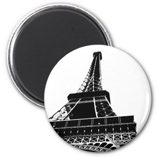 Eiffel Tower 6 Cm Round Magnet