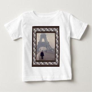 Eiffel Tower and a Parisian Gendqarme Baby T-Shirt