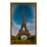 Eiffel Tower and Champ de Mars Posters