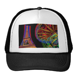 Eiffel Tower and Merry-Go-Round Mesh Hat