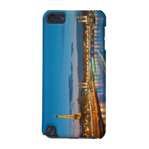 Eiffel Tower and Pont Alexandre III at Night iPod Touch 5G Cases