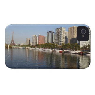 EIFFEL tower and SEINE river iPhone 4 Case
