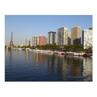 EIFFEL tower and SEINE river Postcard
