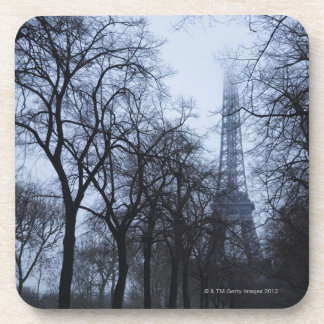 Eiffel tower and trees, Paris, France Drink Coasters