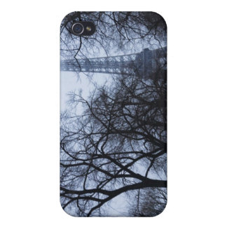 Eiffel tower and trees, Paris, France iPhone 4 Cover