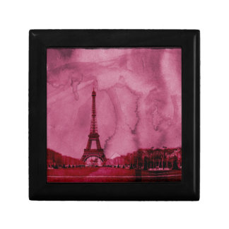 Eiffel tower art small square gift box