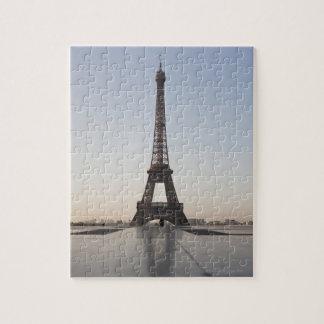 Eiffel Tower at dusk, Paris, Ile-de-France, Jigsaw Puzzle
