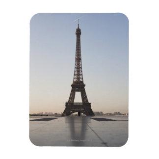 Eiffel Tower at dusk, Paris, Ile-de-France, Rectangular Photo Magnet