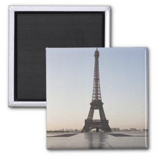 Eiffel Tower at dusk, Paris, Ile-de-France, Square Magnet