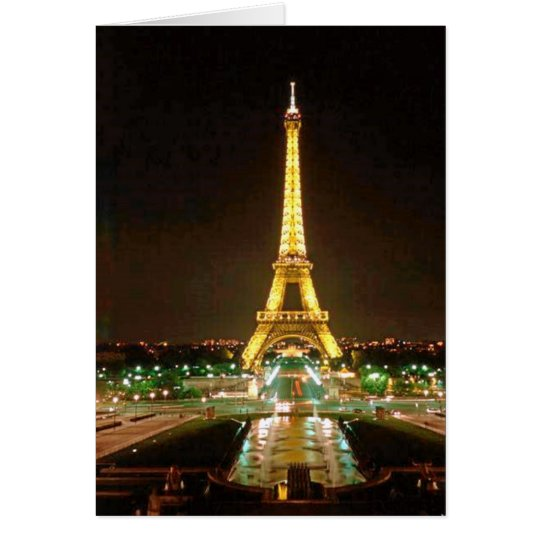 EIFFEL TOWER AT NIGHT CARD