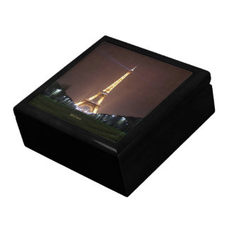 Eiffel Tower at Night Large Square Gift Box