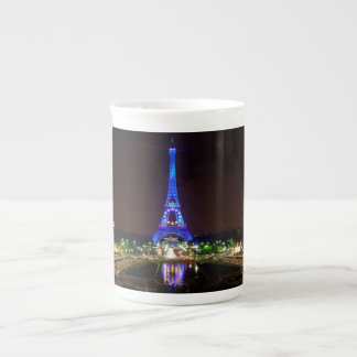 Eiffel Tower at night, Paris Tea Cup