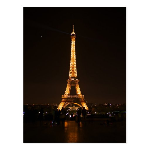 Eiffel Tower at night Post Cards
