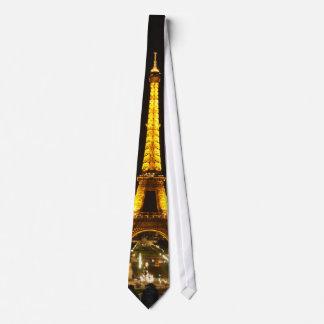 Eiffel Tower at night, tie