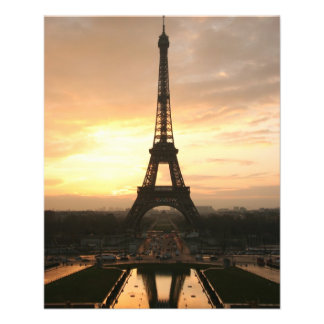 Eiffel Tower at Sunrise from the Trocadero 11.5 Cm X 14 Cm Flyer