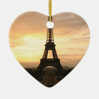 Eiffel Tower at Sunrise from the Trocadero Christmas Ornament