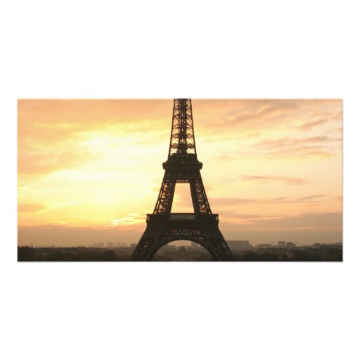 Eiffel Tower at Sunrise from the Trocadero Photo Greeting Card