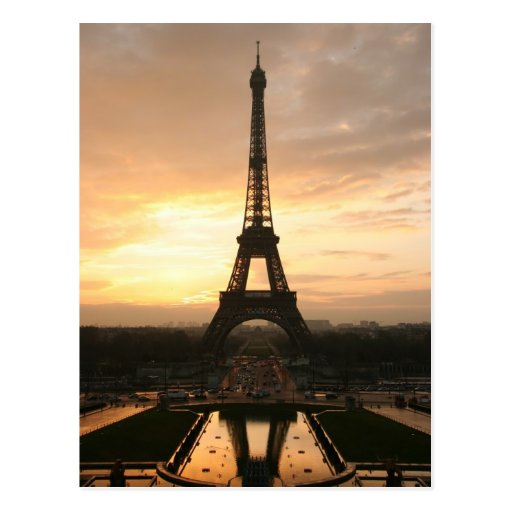 Eiffel Tower at Sunrise from the Trocadero Post Cards