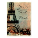 Eiffel Tower at Sunrise Vintage Style #2 Pack Of Chubby Business Cards