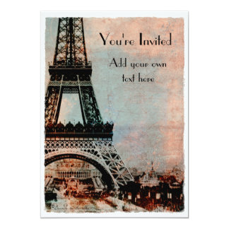 Eiffel Tower at Sunrise Vintage Style Card