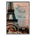 Eiffel Tower at Sunrise Vintage Style Pack Of Chubby Business Cards