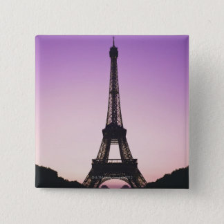 Eiffel Tower at Sunset 15 Cm Square Badge