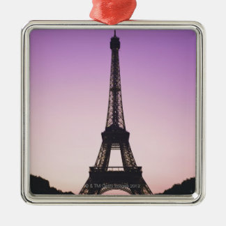 Eiffel Tower at Sunset Christmas Ornament