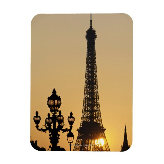 Eiffel tower at sunset magnet