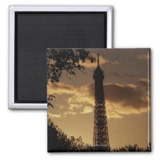 Eiffel Tower at sunset, Paris, France Square Magnet