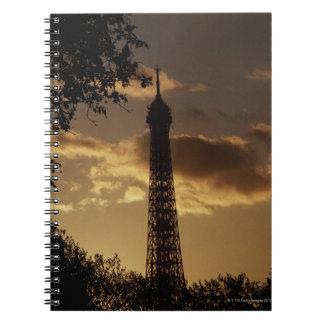 Eiffel Tower at sunset, Paris, France Notebooks