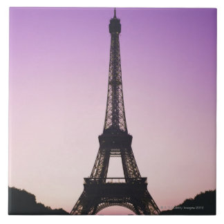 Eiffel Tower at Sunset Tile