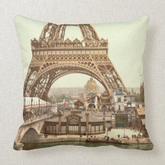 Eiffel Tower Base, Paris, France Cushion