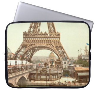 Eiffel Tower Base, Paris, France Laptop Sleeve