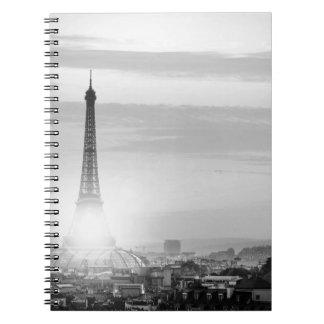 Eiffel tower, bets, France Spiral Notebook
