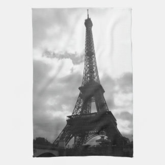 Eiffel Tower Black tone Tea Towel