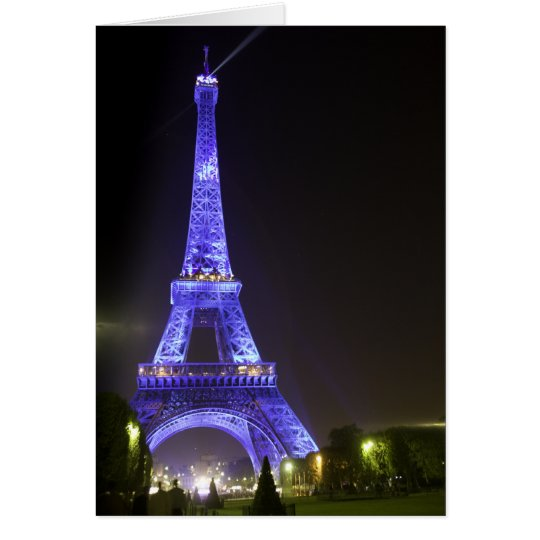 Eiffel Tower, Blue 01 Card