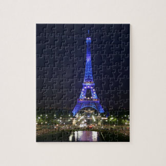 Eiffel Tower (Blue Lights) Jigsaw Puzzle
