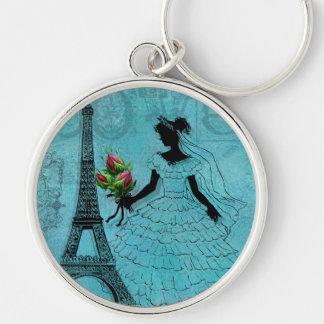 Eiffel Tower Bride  Keychain