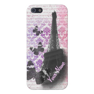 Eiffel tower & butterflies cover for iPhone 5/5S