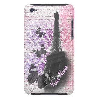 Eiffel tower & butterflies iPod Case-Mate case