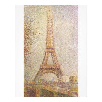 Eiffel Tower by Georges Seurat 21.5 Cm X 28 Cm Flyer