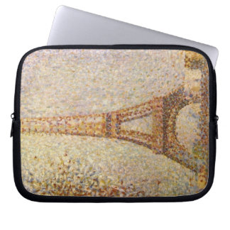 Eiffel Tower by Georges Seurat, Vintage Fine Art Laptop Sleeve