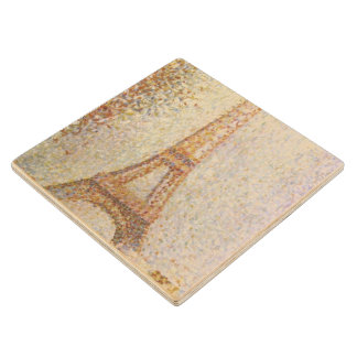 Eiffel Tower by Georges Seurat Wood Coaster